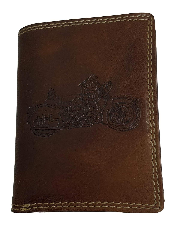 Porte-Monnaie en Cuir de Buffle v/éritable pour Moto Harley Exquisit
