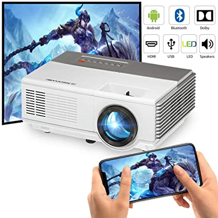 6b50fc3eca8ca0 Portable LCD HDMI WiFi Mini Projector Bluetooth,Built-in Android Smart Home  Theater Projectors