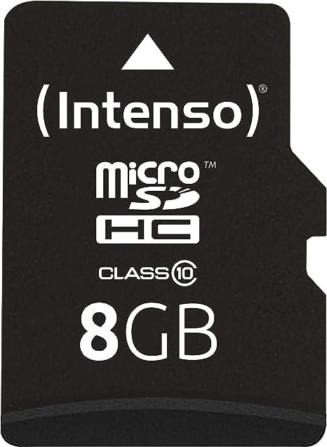 Intenso 3413460 - Tarjeta de Memoria Micro SD de 8 GB (Clase 10 ...