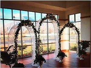 Adorox 7.5 Ft White Metal Arch Wedding Garden Bridal Party Decoration Arbor (3)