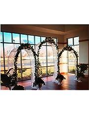 Adorox 7.5 Ft White Metal Arch Wedding Garden Bridal Party Decoration Arbor