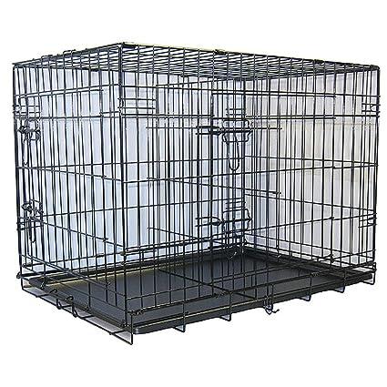 Amazon Com 48 Inch 2 Door Folding Metal Dog Crate W Divider Crate