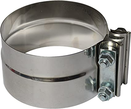 """4.0/"""" Stainless Steel Exhaust Flat Band Clamp//Clamps"""