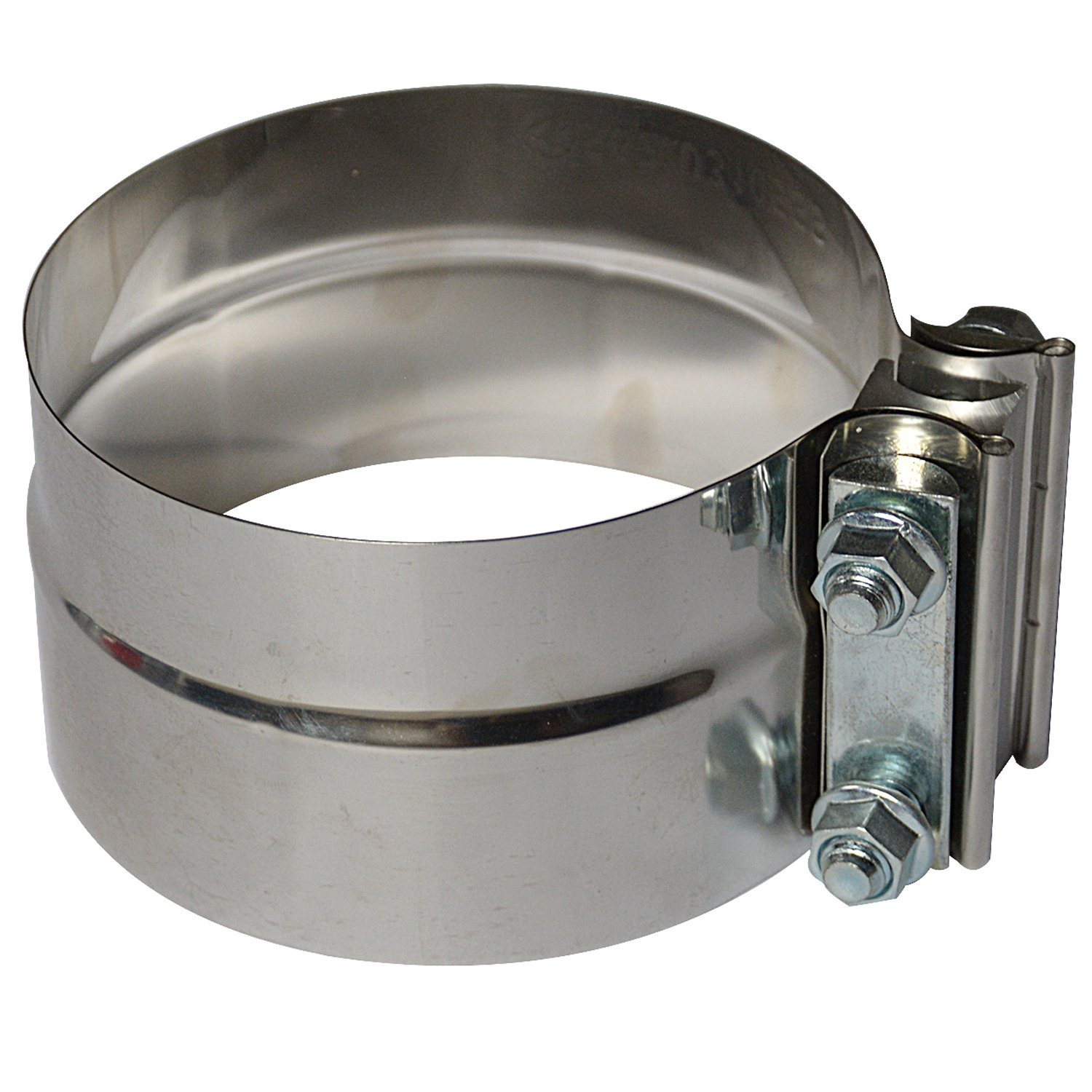 3.5'' Lap Joint Exhaust Band Clamp - Preformed Stainless Steel for 3.5'' ID to 3.5'' OD Exhaust Pipe Connection