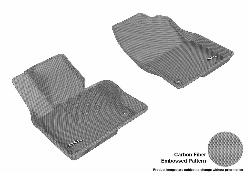 3D MAXpider L1MZ05811509 Black All-Weather Floor Mat for Select Mazda Cx-5 Models Front Row