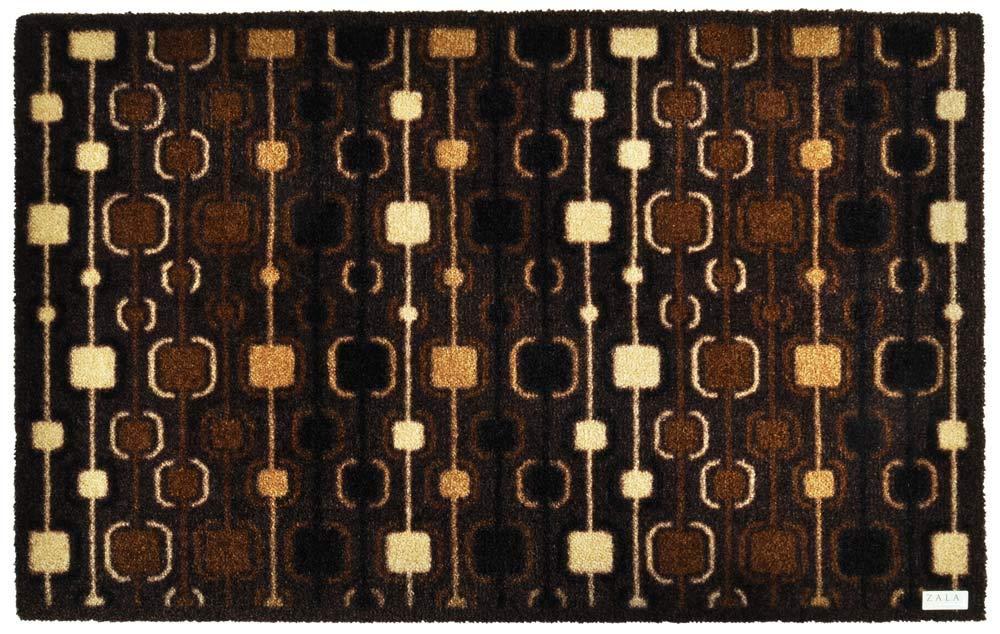 Zala Living 102094 Fußmatte Schmutzfangmatte Sauberlaufmatte Türmatte Dekomatte, Polyamid, braun, 120 x 200 x 0,7 cm