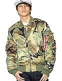 (アルファインダストリーズ) ALPHA INDUSTRIES INC MA-1 ジャケット メンズ 大きいサイズ スリムフィット 迷彩柄 MJM44530C1 2カラー [並行輸入品]