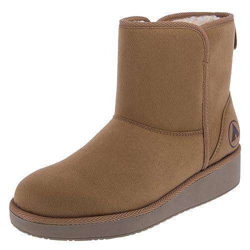 Airwalk Women s Cognac Women s Nova Cozy Wedge Ankle Boot 7 Regular ... 724d9d9832