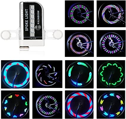 AIKELIDA Bike Wheel Lights Waterproof Ultra Bright 14 LED Bicycle Wheel Spoke