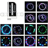 Bike Wheel Lights-Rottay Waterproof RGB Ultra Bright Bicycle Wheel Lights Spoke Lights With 14-LED and 30pcs Changes Patterns -Safety Cool Bike Tire Accessories for Kids Adults