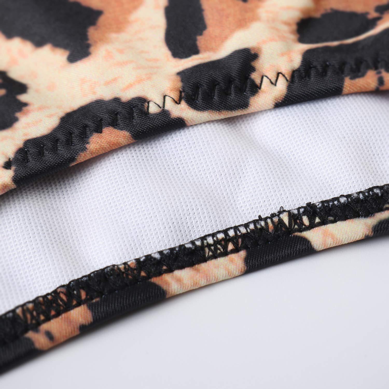 RXRXCOCO Traje de ba/ño de Cintura Alta sin Espalda con Cuello en V y Volantes para Mujer