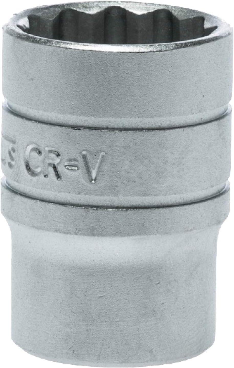 Teng Tools 21mm 1//2 Inch Drive 12 Point Regular//Shallow Metric Socket M120521-C