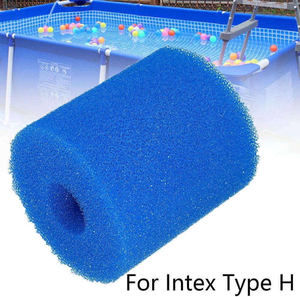 Malsyee Cartouche de filtre de piscine pour Intex Type H lavable et compatible avec Intex Type H /éponge filtrante r/éutilisable