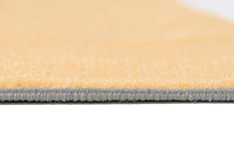Tapiso Maya Alfombra de Sal/ón Sala Comedor Dise/ño Moderno Amarillo Gris Negro Blanco Geom/étrico C/írculos Delgada 80 x 150 cm