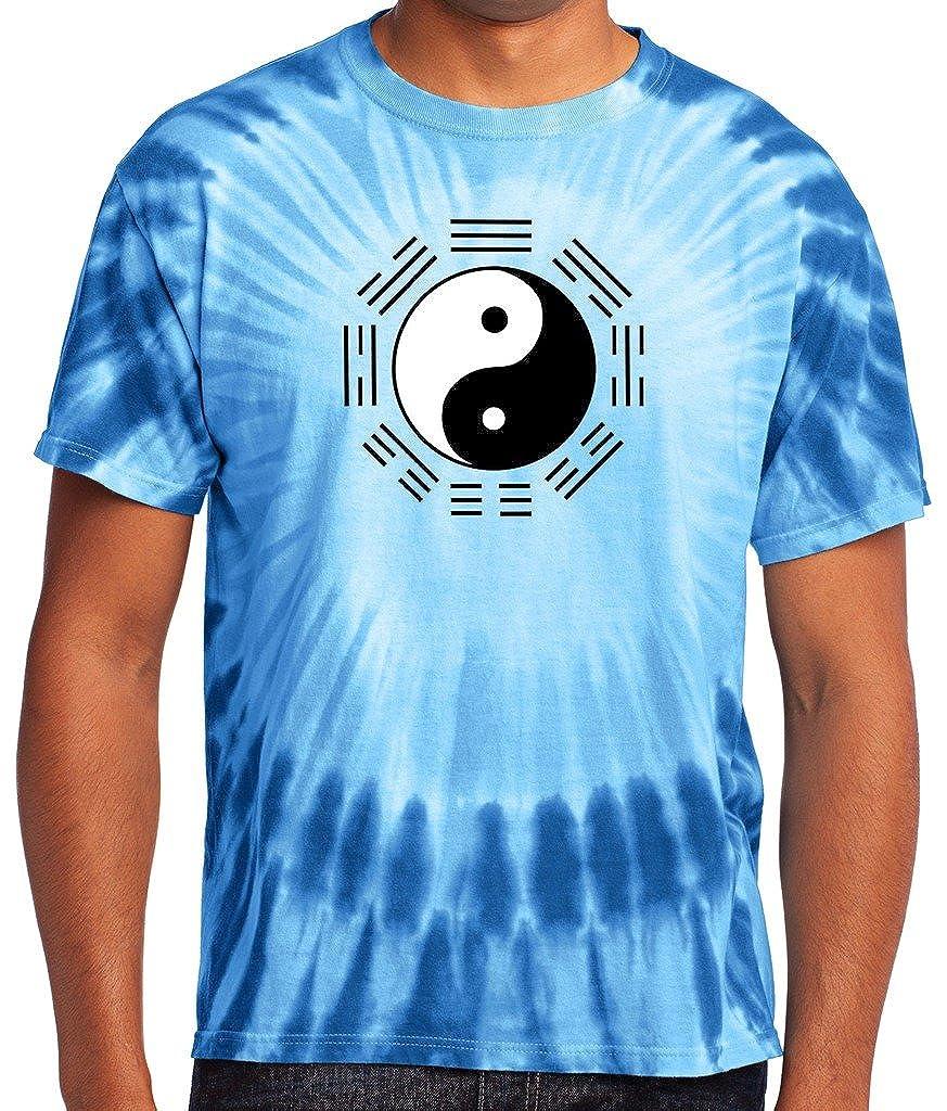 Yoga Clothing For You Mens Yin Yang Trigrams Tie Dye Tee Shirt PC149-YYTRI