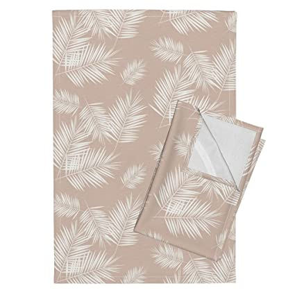 Amazon.com: Roostery Palm Tree Tea Towels Palm Leaves Palm ...