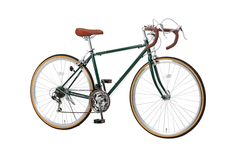 RayChell(レイチェル) クラシック ロードバイク 700C シマノ21段変速 RD-7021R 2WAYブレーキシステム サムシフター [メーカー保証1年]  グリーン B00QN7QJSQ