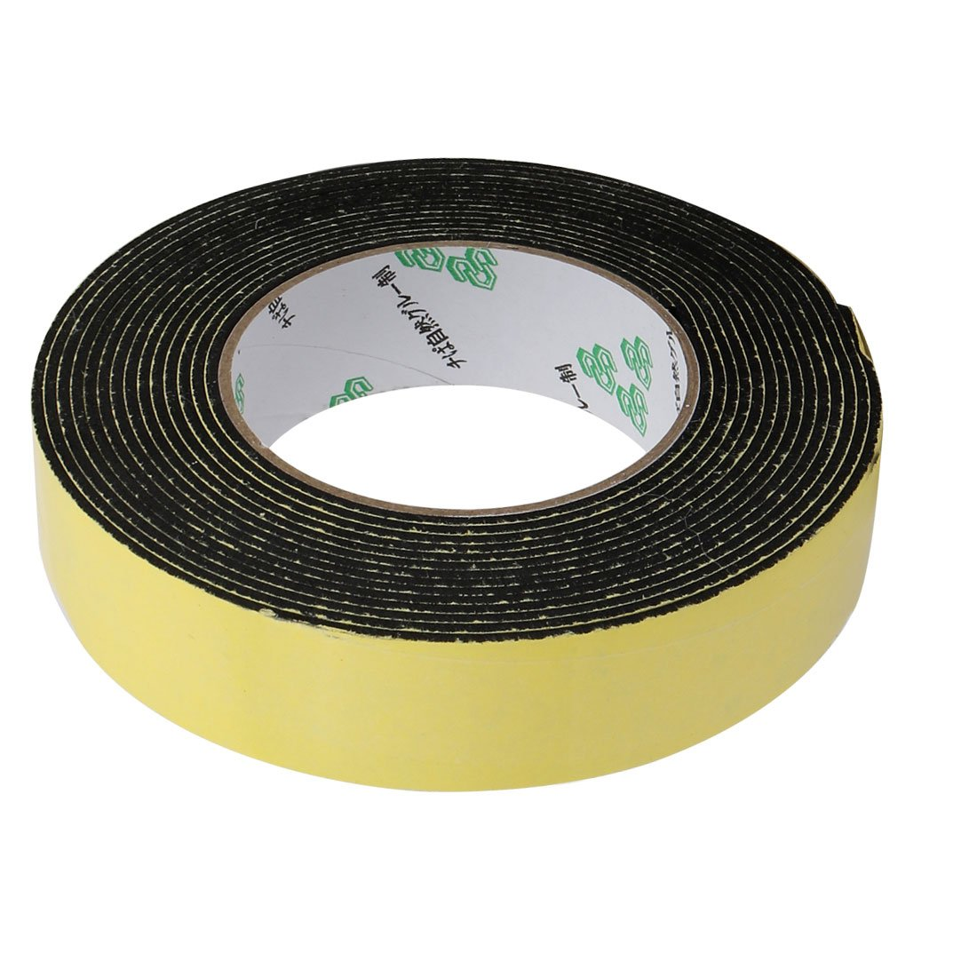 /9,8/cm longitud 30/mm x 2/mm sola cara cinta adhesiva a prueba de golpes EVA Esponja Amarillo Sourcingmap/