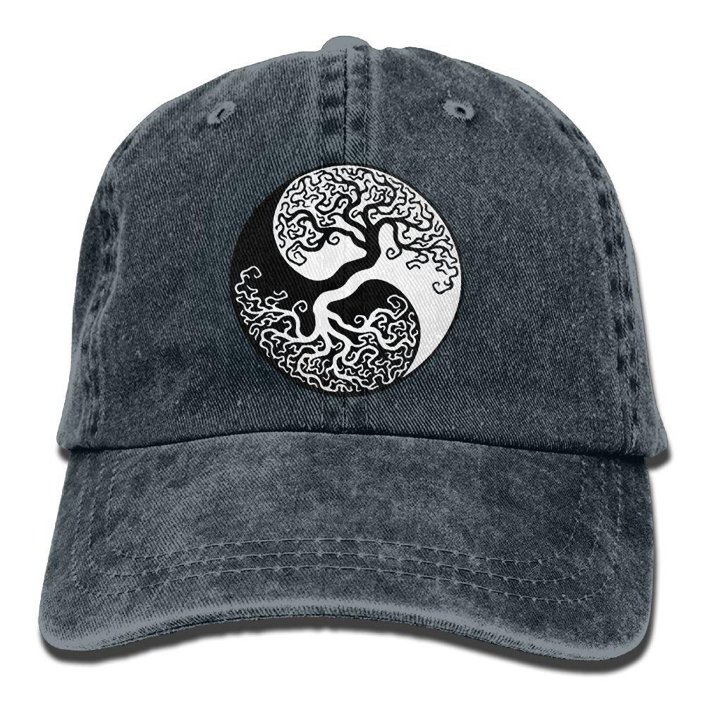QQQWZH-A Bonsai Tree On The Yin Yang Symbol Sports Jean headgear