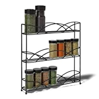 Taylor & Brown® Free Standing 3 Tier Spice and Herb Rack –Counter Table Top Storage Shelving Solution for Up to 21 Jars and Bottles – Universal Size Fits Most Brands – Non Slip Rubber Feet