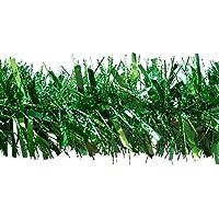 Shatchi 21506-GREEN-TINSEL - Guirnalda de espumillón para decoración