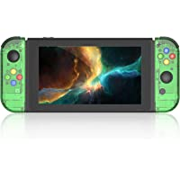 BASSTOP DIY Replacement Shell Case for Nintendo Switch Joy-Con Controller Without Electronics (Joycon-Jungle Green)