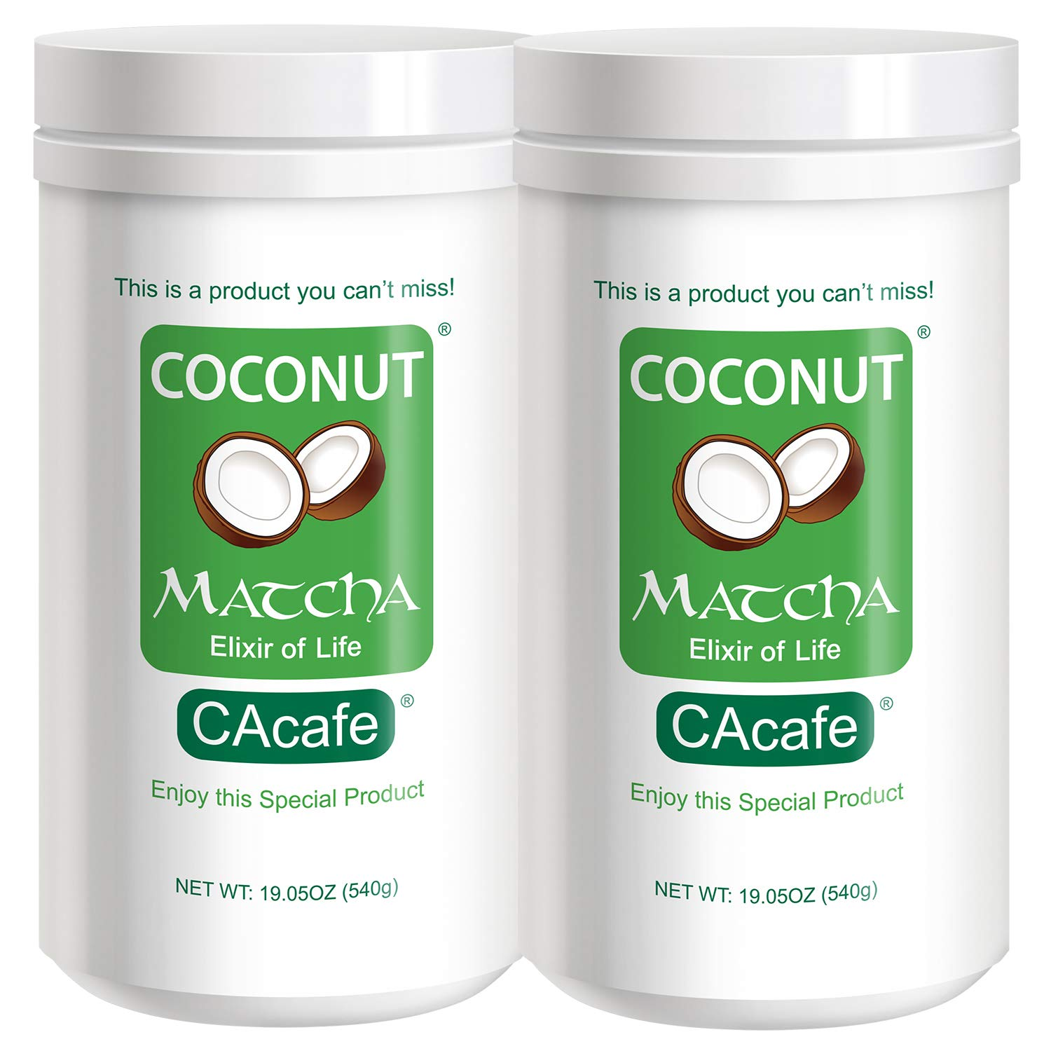 Coconut Matcha, this is a product you can't miss. Pack of 2