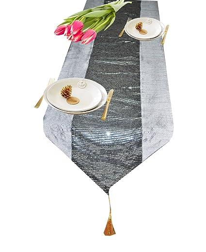 Designer Durable Dopian Silk Table Runner 13