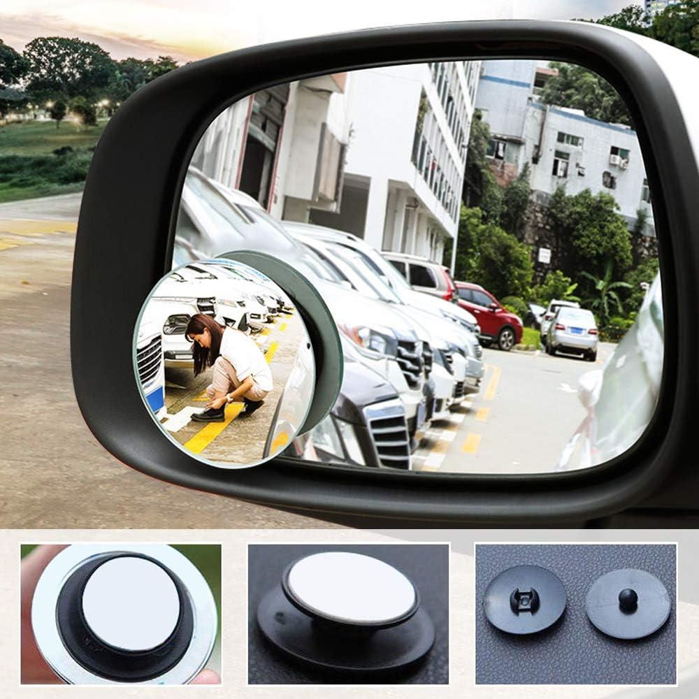 Hysagtek 6 Pcs Car Rear View Mirror Film Anti-Fog Anti-Glare Anti-Scratch Rainproof Car Side View Mirror HD Mirror Window Film Clear Sticker with 2 Pcs Blind Spot Mirror for Drive Safely