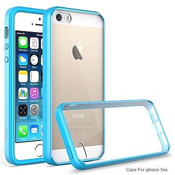iPhone 5 Funda,iPhone 5S Funda,iPhone SE Funda,Pegoo Transparente Ultra-delgado Shock-Absorción Anti-Arañazos de Acrílico Dura Caso y Suave TPU Cover ...