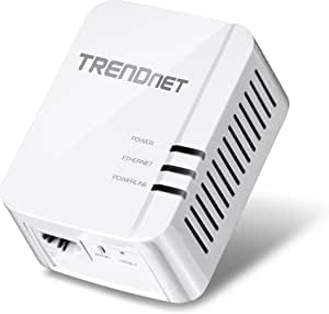 TRENDnet Powerline 1300 AV2 Adapter, IEEE 1905.1 & IEEE 1901, Gigabit Port, Range Up to 300m (984 ft.), TPL-422E