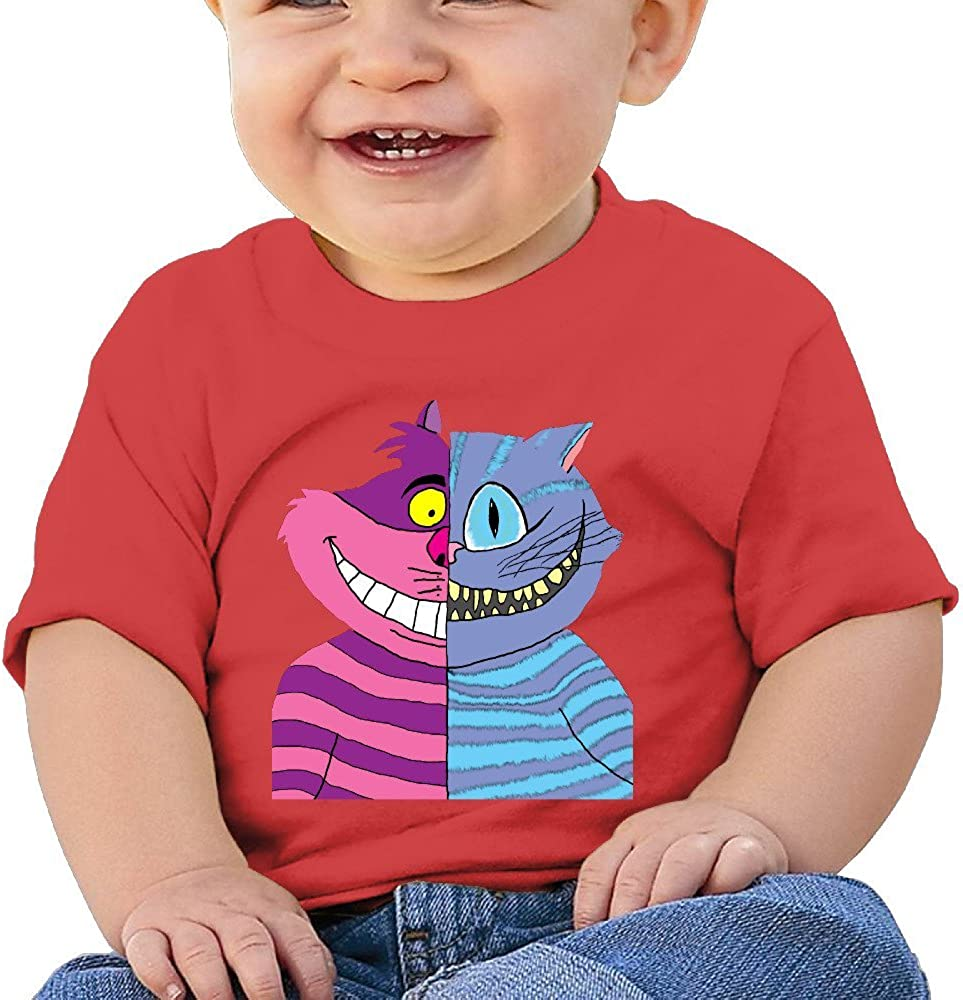 Kim Lennon Cheshire Double-Faced Cat Custom Infant T-Shirt Black