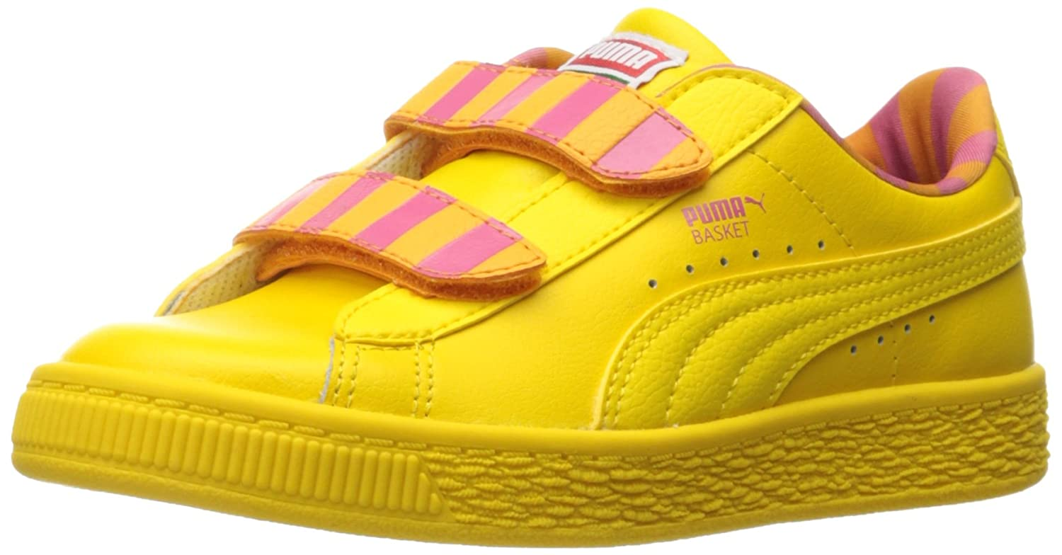 PUMA Kids Sesame Str Basket Big Bird Mono V PS Sneaker