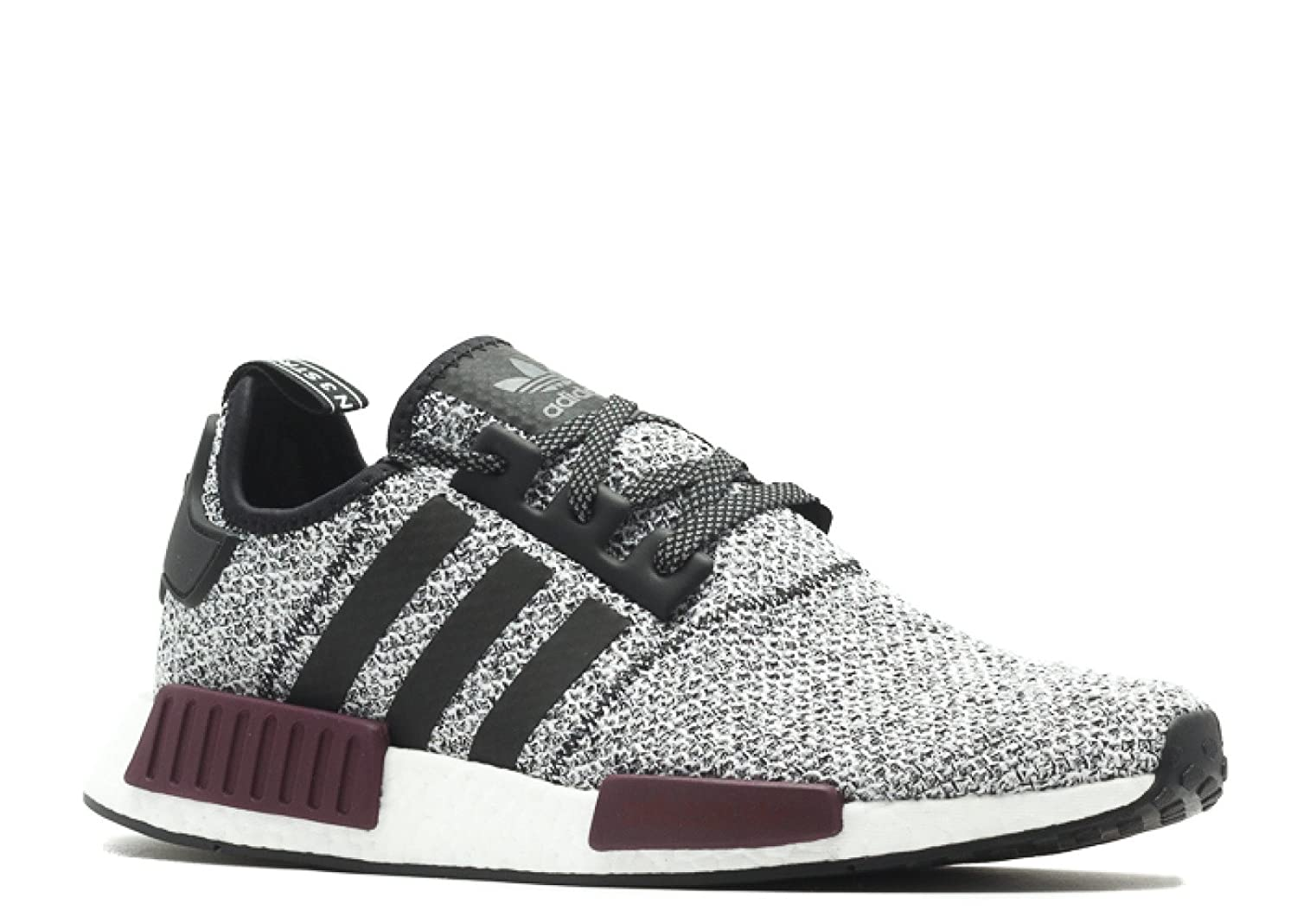 buy online 1e88f 83d81 Amazon.com   adidas Men s Originals NMD R1 Black Black Purple Mesh Running  Shoes 10 M US   Running