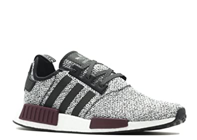 698764998 Image Unavailable. Image not available for. Color  adidas Men s Originals NMD  R1 Black Black Purple Mesh Running Shoes 10 ...