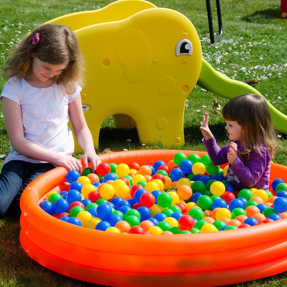 Eyepower 200 Bolas de plástico diámetro 5,5cm para fiestas llenar piscinas bebés juguete niños mascotas: Amazon.es: Juguetes y juegos