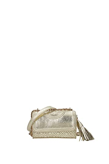 bfa61b79ca989 Image Unavailable. Image not available for. Color  Tory Burch Fleming  Metallic Mirco Shoulder Bag