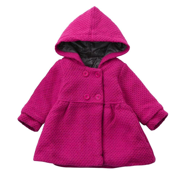 manteau bébé, Tpulling bébé fille automne - hiver hoodded pardessus cape blouson épais vêtements chauds