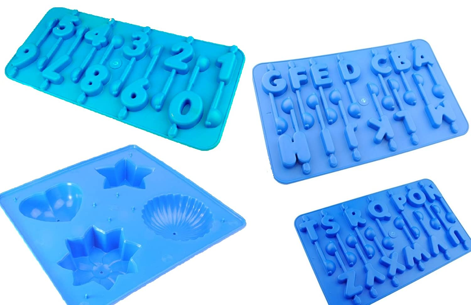 A-Z /& Number Trays. Proops Set x 11 Candle Moulds Star Free UK Postage Rectangle Pyramid Pentagon 4 Shaped Tray Sphere Pillar S7614 Rocket