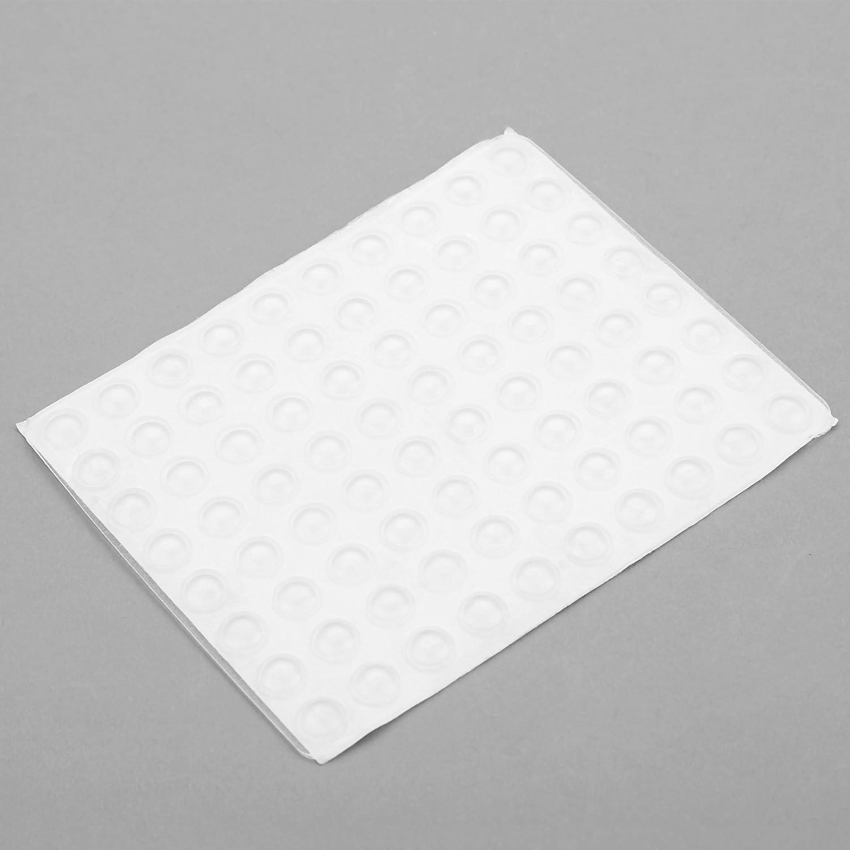 Dia 15mm 30pcs Clear Self-Adhesive Rubber Feet Round Bumper Door Buffer Furniture Pad