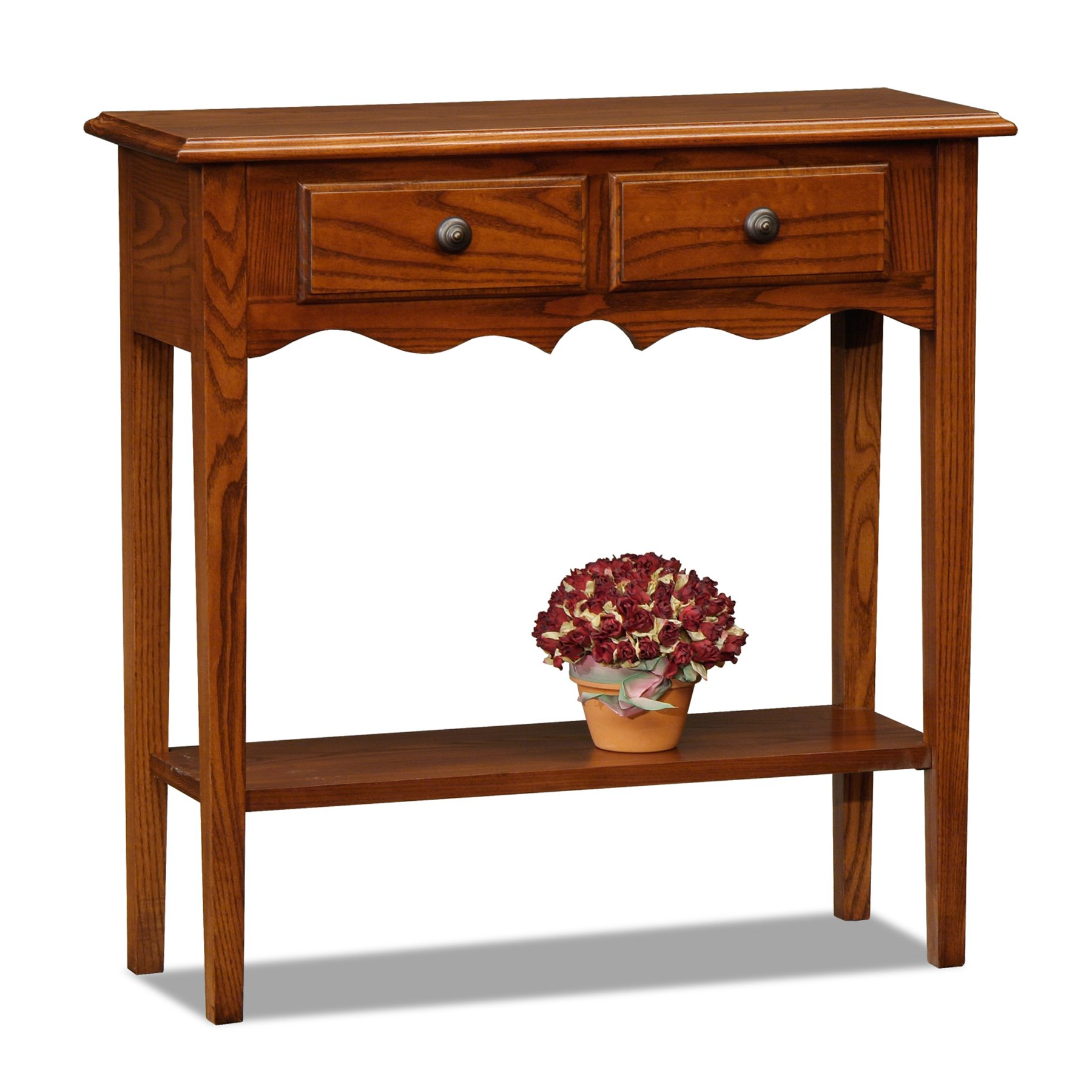 Leick 9027-MED Favorite Finds Console Table, Medium Oak by Leick Furniture