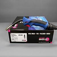 MIG/MAG-brander BINZEL MB 15 AK gasgekoeld ERGO-GRIP 3m blauw met drukschakelaar