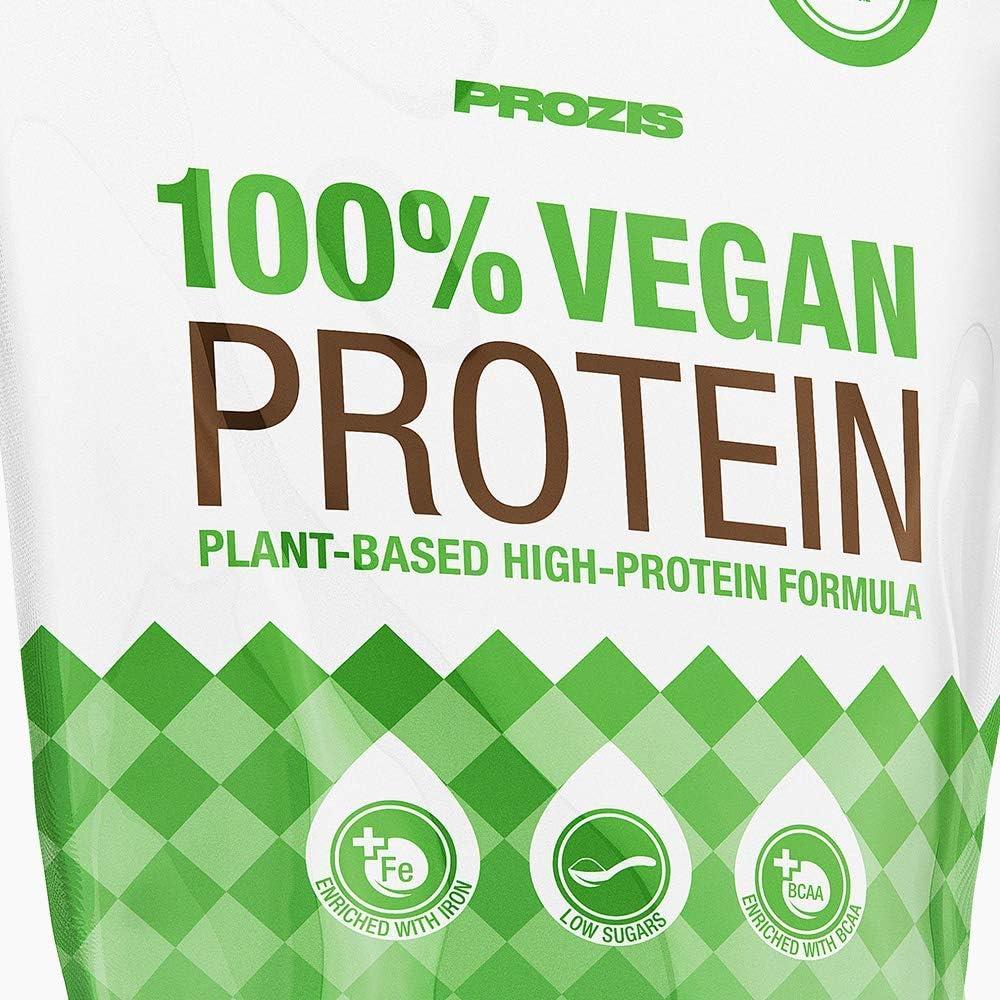 Prozis 100% Vegan Protein 900 g Vainilla Pura Proteína Vegana En Polvo Apto A Dietas Vegetarianas Y Veganas