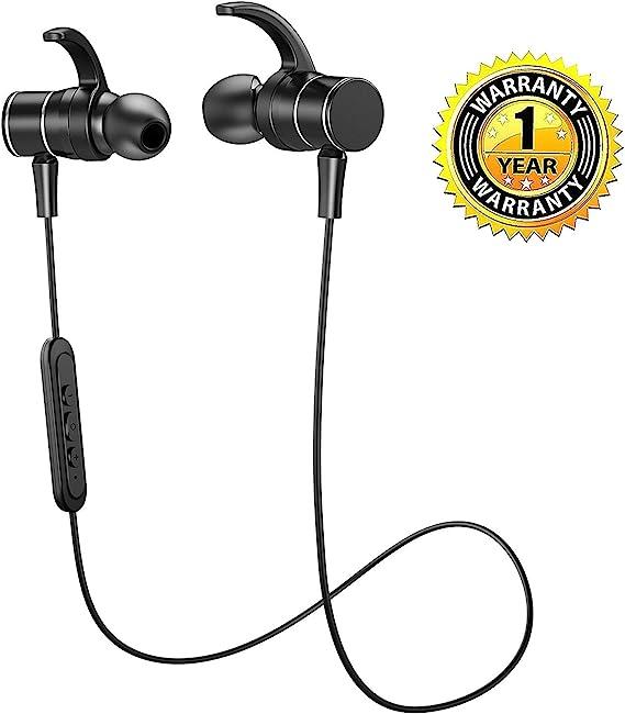 Amazon Com Kunstworker Bluetooth Headphones In Ear Wireless Earbuds 4 1 Magnetic Sweatproof Stereo Bluetooth Earphones For Sports With Mic Black Black5