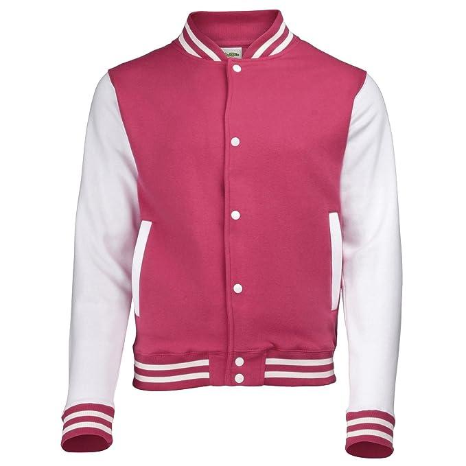 Amazon.com: Kid 's Varsity – Chaqueta de color rosa y ...
