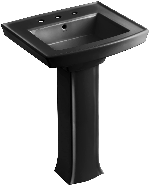 KOHLER K 2359 8 0 Archer Pedestal Bathroom Sink With 8 Inch Centers, White    Pedestal Sinks   Amazon.com