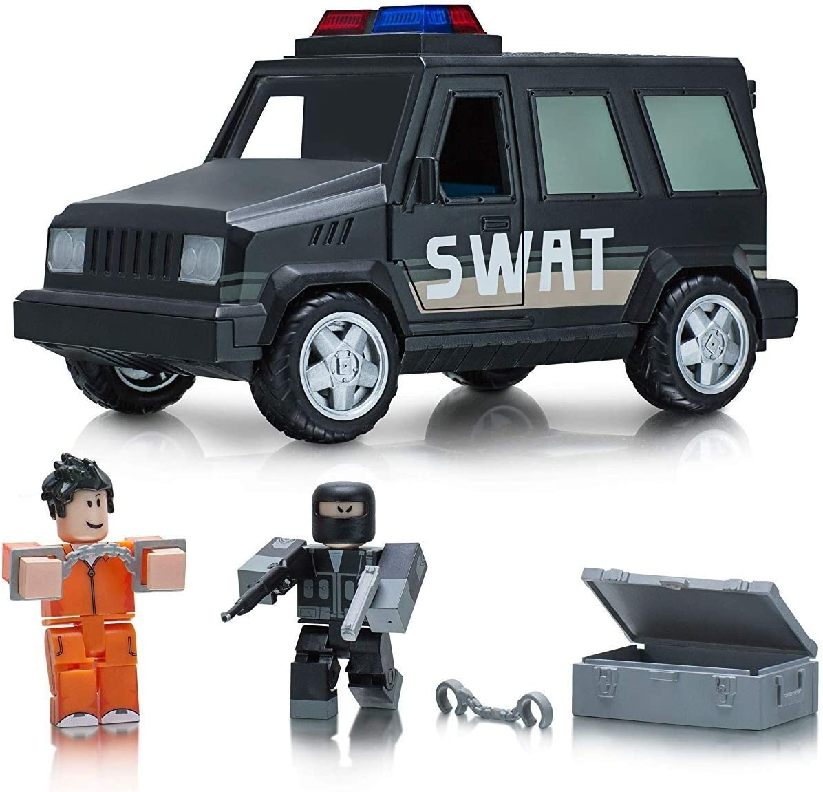 the 10 best gear items on roblox Amazon Com Roblox Action Collection Jailbreak Swat Unit Vehicle Includes Exclusive Virtual Item Toys Games
