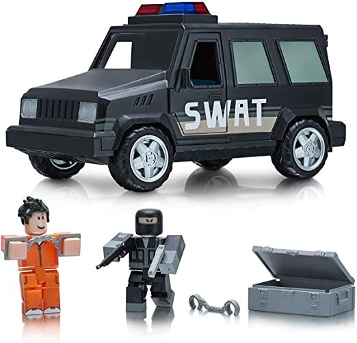 White Van Roblox Vídeo Roblox Amazon Com Roblox Action Collection Jailbreak Swat Unit Vehicle Includes Exclusive Virtual Item Toys Games