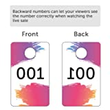 Mudder Live Sale Number Tags 100 Pieces Plastic