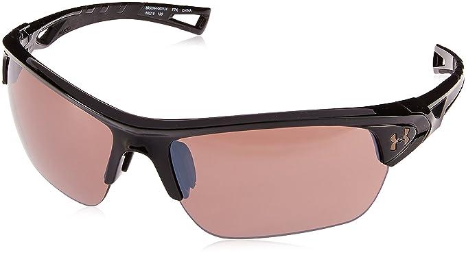 a7d899874545 Under Armour UA Octane Wrap Sunglasses, UA Octane Gloss Black/Black/Road,  M/L: Amazon.co.uk: Clothing